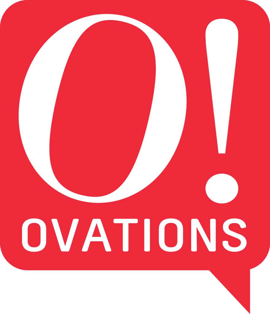 Corporate entertainment agency logo | Ovations