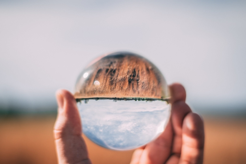 Holding up a glass ball - predictions