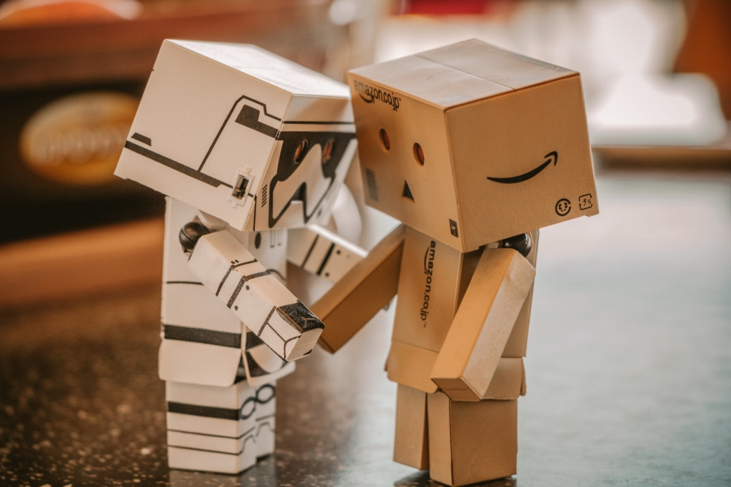 Human touch at events, robots touching